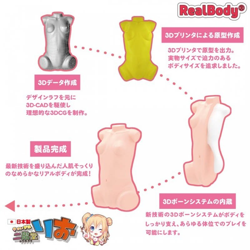 Real Body 3D - Chaidol Rio Nikaido Loli sex doll torso